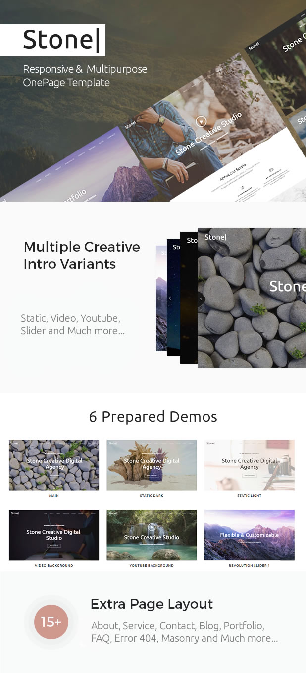 Stone - Responsive Multipurpose One Page Template - 1